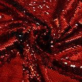 FabricbyTheYard Sequin Fabric Black FlipSequinFabric MermaidReversibleSequinFabric Rainbow Color Change Fabric Sequence Fabric SequinFabric for Sewing (1 Yard, Red to Black)