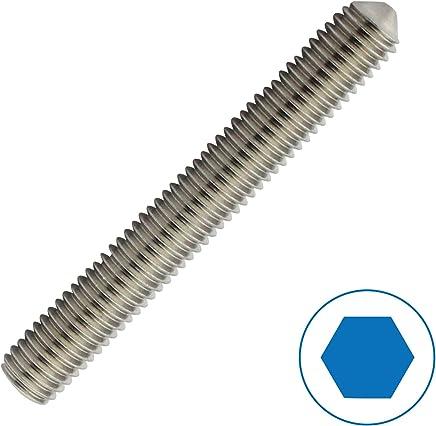 Bolt Base 3 mm // M3 x 16 mm A2 Edelstahl Madenschraube mit Innensechskant DIN 914-10 St/ück