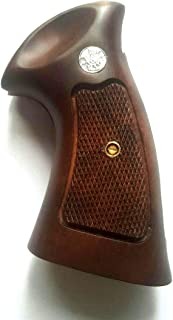 DOXICON&NOMIX Hardwood N Frame Square Butt Smith and Wesson Handcraft Handmade Grips Revolvers Checkered