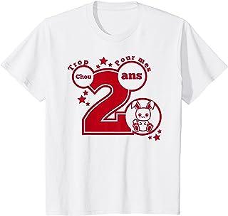 Enfant cadeau anniversaire 2 ans humour - Trop chou pour mes 2 ans T-Shirt