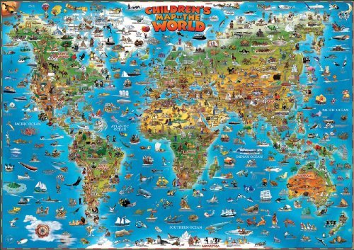 Childrens Map of the World flat...