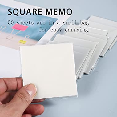 Transparent Sticky Note Pads - 500 Pcs Waterproof Self-Adhesive Pad,Translucent Sticky Notes Suitable for Reading、Studying、 H