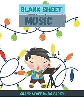 Blank Sheet Music Grand Staff Music Paper, Bright glowing bulb light decoration christmas decorative element colorful garl...