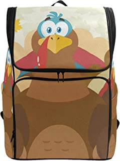 Travel Backpack Cartoon TurkeysCollege Backpack for Women Large 3D Back Pack