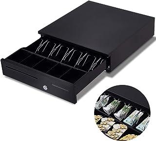 schwarz 42 x 40,5 x 9 cm GOPLUS Kassenschublade Kassenschubfach Kassenlade Geldlade Geldschublade elektronische Kassschublade mit 5 Scheinf/ächern und 5 M/ünzf/ächern