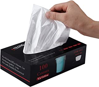 Feiupe 5.2 Gallon Extra Strong Small Trash Bag Garbage Bag Trash Can Liner,100 Count (5.2 Gallon)