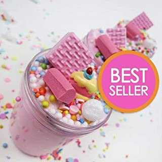 ORIGINAL Strawberry Pink Birthday Cake Slime with Cake Charm (Scented) - 4 oz - Made in USA