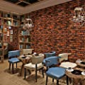 Hanmero Modern Minimalist 3D Look Real Faux Brick PVC Vinyl for Home Shops Offices Wall Decoration