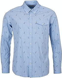 Men Sailboat Tailored Fit Button Down Shirt Blues