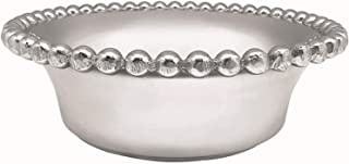 MARIPOSA Pearled Serving Bowl, Silver