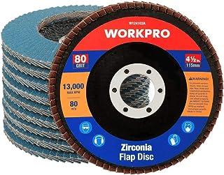 Sponsored Ad – WORKPRO Flap Discs 115mm 80 Grit, Abrasive Sanding Discs Flap Wheel, Grinding Wheels Discs for Angle Grinde...