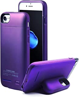 Battery Case for iPhone 8/7/6/6s, YLEX Slim Battery Case with Magnetic Stand Design, 3000mah Portable Charging Case Extended Battery Charger Case for iPhone 8/7/6s/6 (4.7 inch),Purple
