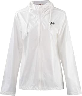 Lee Cooper Windbreaker Jacket Womens Sweater White Long Sleeve Outerwear