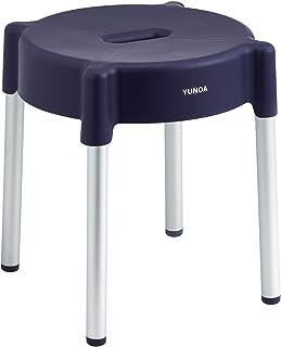 レック YUNOA (ユノア) アルミ脚 風呂いす 高さ30cm (パープル) 防カビ ・ 抗菌 B00007