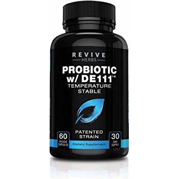 Advanced Probiotic with Patented DE111 Strain (Bacillus subtilis). Spore Forming Probiotic. No Refrigeration Needed. 11.5 Billion Organisms. Probiotics for Women and Men. 60 Vegetable Capsules.