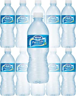 Nestle Water, Pure Life, Purified Water, 16.9 Fl Oz Bottle (Pack of 10, Total of 169 Fl Oz)