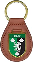 Clay Family Crest Coat of Arms 10 Total Key Chains