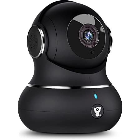[2021 New] Littlelf Wifi Camera, 1080P Home Security Camera for Baby Elder Pet, Dog Camera with 360 Degree Rotational Viewing, Night Vision, Motion Detection, Baby Monitor Works with Alexa