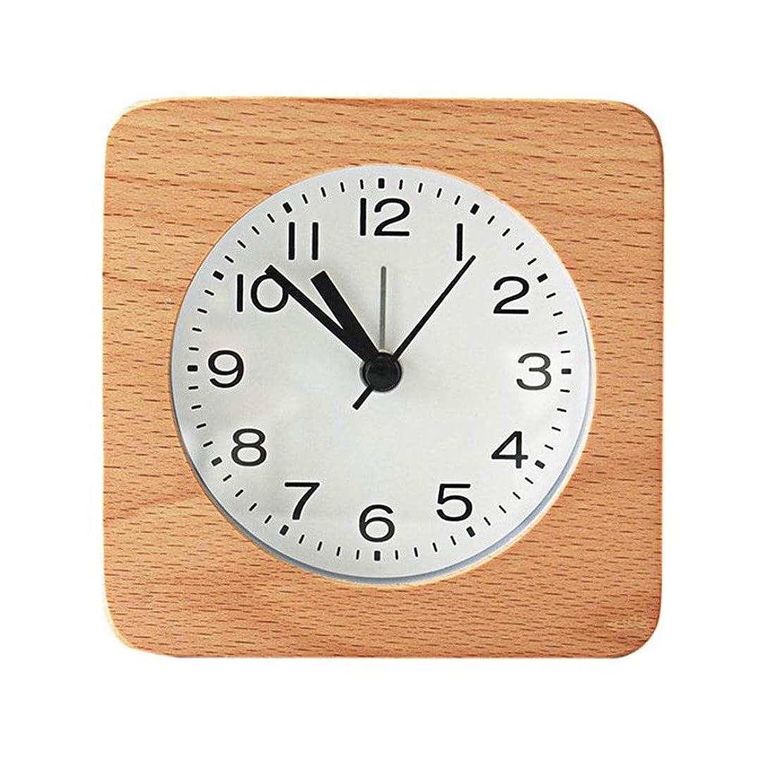 挨拶学校甘やかすシンプルログ目覚まし時計日本の学生の寝室のベッドサイドの目覚まし時計
