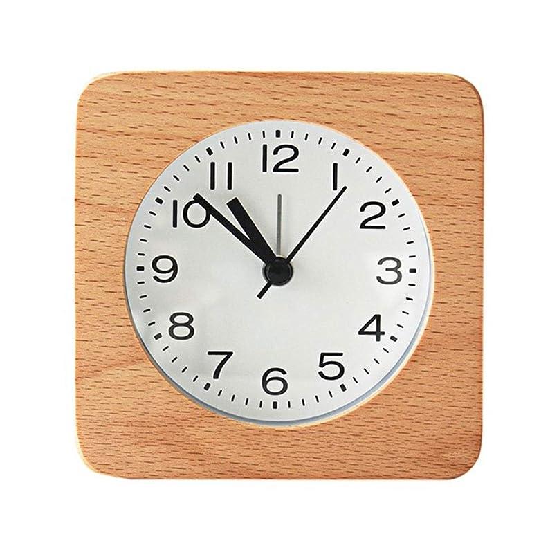 海岸アカデミック話をするシンプルログ目覚まし時計日本の学生の寝室のベッドサイドの目覚まし時計