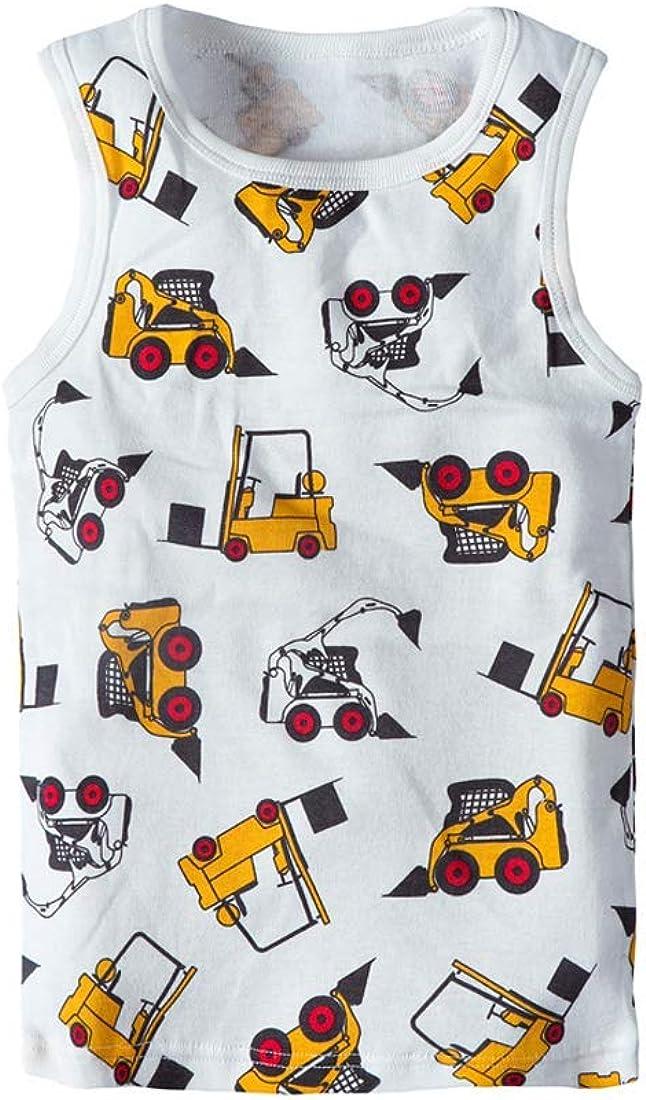Huaer) Toddler Boys' 2-3 Pack Tank Tops (Dark Blue Dinosaur, 3T)