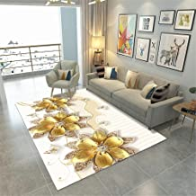 Golden flower salon carpet modern minimalist customized carpet Durable dirt-resistant washable easy to clean non-slip carp...
