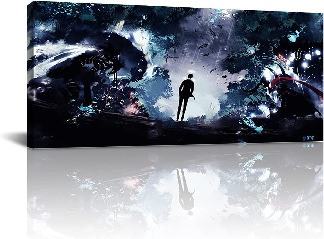 Max 84% OFF Solo Leveling Japanese Anime Poster and Wall Art Canvas P Prints lowest price