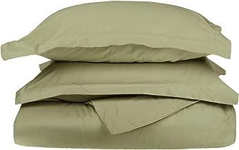 Superior 100% Egyptian Cotton 650 Thread Count Duvet Cover Set, Sage, King/California King, 3-Piece