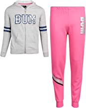 B.U.M. Equipment Girls 2-Piece Athletic Jogger Pant Set with Zip Up Hoodie