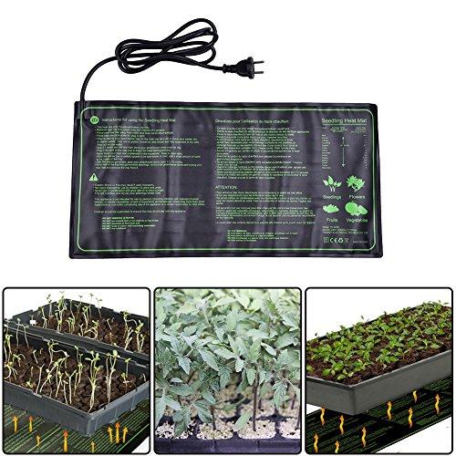 Fastar semis Tapis chauffant, 18 W IP67 étanche hydroponique semis Plante Tapis chaud hydroponique avec coussin chauffant pour intérieur ou extérieur semis germination, 25,4 x 52,7 cm