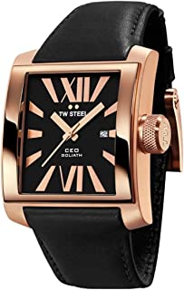 TW Steel Watch for Men, Leather, CE3011