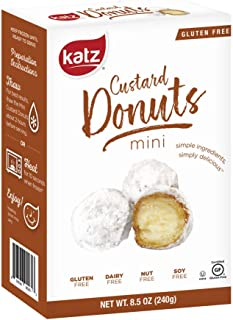 Katz Gluten Free Mini Custard Donuts | Dairy, Nut, Soy and Gluten Free | Kosher (1 Pack of 18 Donuts, 8.5 Ounce)