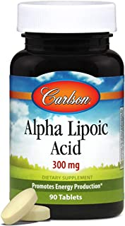Carlson - Alpha Lipoic Acid, 300 mg, Promotes Energy Production, 90 Tablets