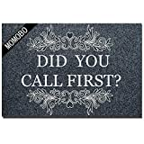 Funny Doormat Custom Indoor Doormat -Did You Call First Home and Office Decorative Entry Rug Garden/Kitchen/Bedroom Mat Non-Slip Rubber 23.6 x15.7 Inch