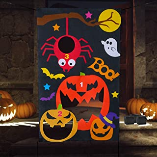 Verkstar Halloween Party Games All Ages Kids Throwing Felt Sandbags Hanging Games with 3 Bean Bags,Halloween Decoration Indoor Outdoor Activity for Party, Carnival,Birthday Christmas Parties
