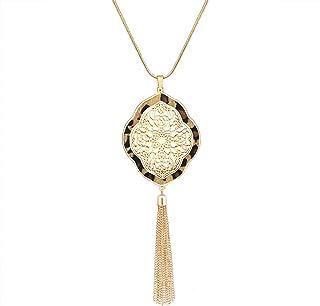 XOCARTIGE Long Necklaces for Women Filigree Quatrefoil...