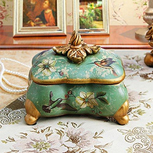 Amerikaanse vintage juwelendoos landelijke bloem keramische juwelendoos slaapkamer Dressoir opslag pot Opslag Doos decoratie