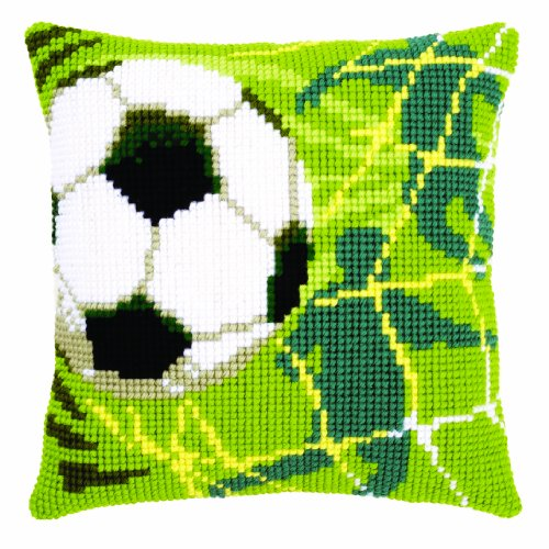 Vervaco - Kit para cojín de Punto de Cruz, diseño de fútbol