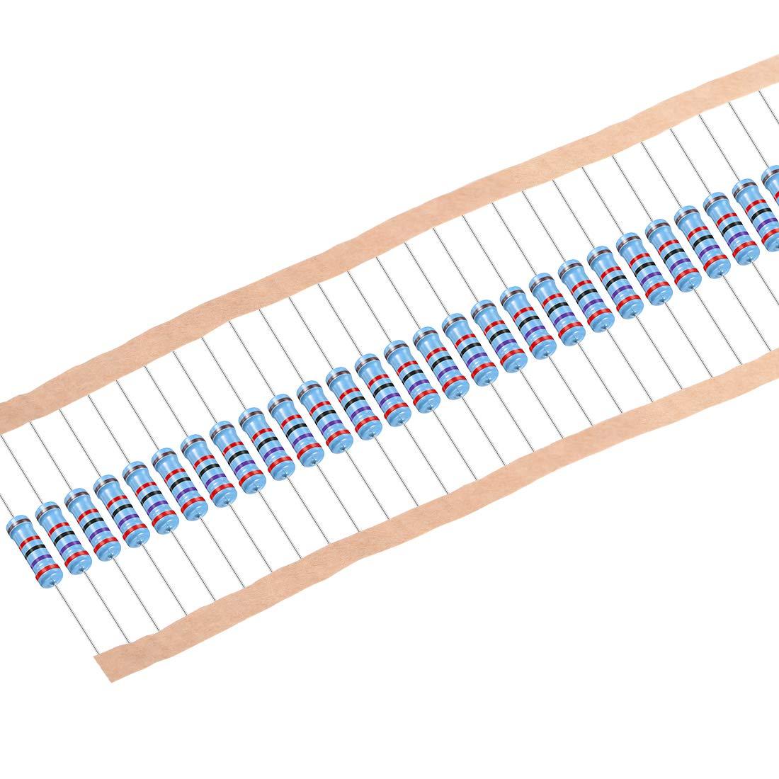 uxcell Tulsa Mall 30Pcs 27K Ohm Resistor 2W Film Tolerance depot Metal 1% Resist