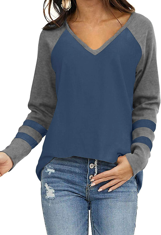 SENSERISE Womens Casual Crewneck Sweatshirt Short/Long Sleeve Solid Color Shirt Soft Lightweight Loose Tops