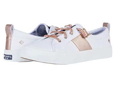 Sperry Crest Vibe Metallic Synthetic Leather (White/Blush) Women