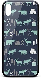 Forest Bear Moose Baby Bear Phone Case for iPhone X/XSTPU Protective Perfectly fit Anti-Scratch Fashionable Glossy Anti Slip Thin Shockproof Soft Case