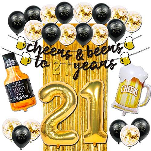 Dekorationen zum 21. Geburtstag für Sie...
