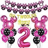 Decoración para cupcakes con texto en inglés Oh Twodles, color rosa