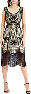 Casual Vintage Bead Fringe Sequin Lace Party Flapper Cocktail Sexy Party Dress