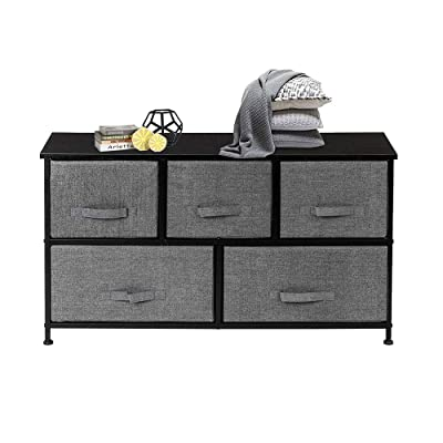 Tenozek 2-Tier Wide Closet Dresser, Nursery Dre...