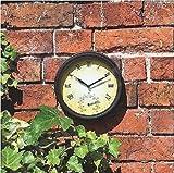 NIGMA Wanduhr mit Thermometer