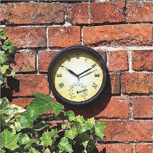 Nigma Wanduhr mit Thermometer, viktorianischer Stil, 20 cm