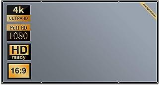 Projectorscherm, 100 inch anti-licht projectorscherm voor thuisbioscoop, 16:9 HD opvouwbaar projectorgordijn voor gebruik ...