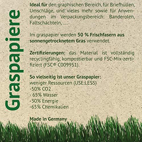 Feel Green 1000 Bögen DIN A4-85 g/m² Graspapier | Öko-Briefbogen Aus 50% Sonnengetrocknetem Gras | Recyclingfähig, Kompostierbar Und FSC-Mix-Zertifiziert | Made In Germany, Braun-85